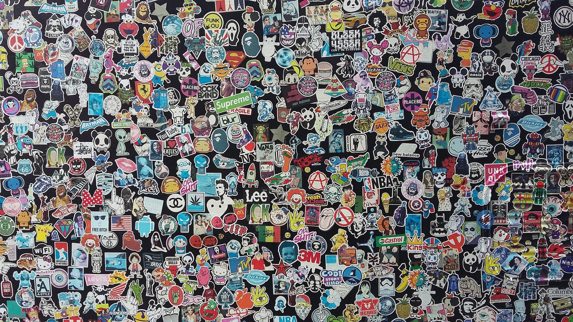 Download Sticker Bomb Wallpaper 1920x1080